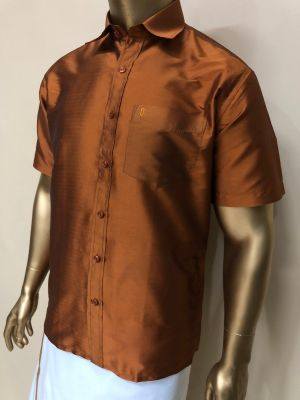Art Soft Silk Light Rust Shirts Regular