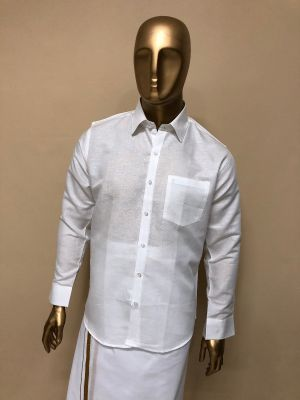 Cotton White Premium Shirts Regular