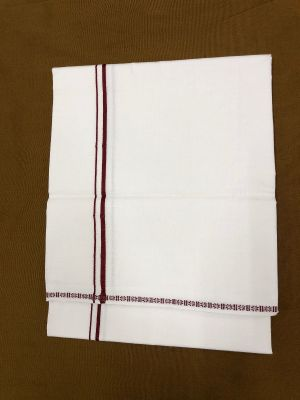 Cotton White (Bleached) Small Mill Border